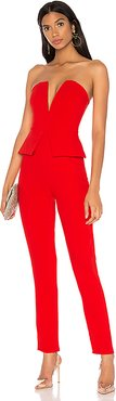 Pepper Strapless Jumpsuit in Red. - size S (also in XS,XXS)