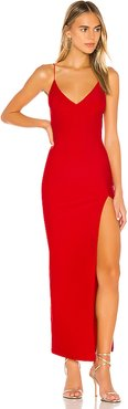 Loraine Slit Maxi Dress in Red. - size L (also in M)