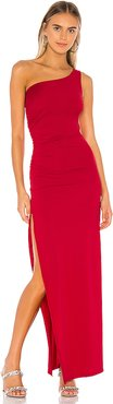 Mabel Ruched Maxi Dress in Red. - size M (also in L,S,XL)