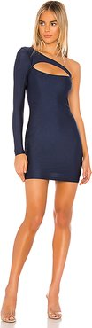 Erika Cut Out Dress in Navy. - size XL (also in L,M,S,XS)