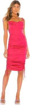 Cora Midi Dress in Pink. - size M (also in XXS,XS,S)
