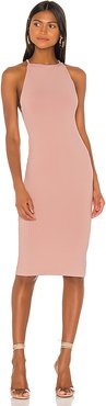 Safia Open Back Midi Dress in Blush. - size M (also in XXS,XS,S,L)