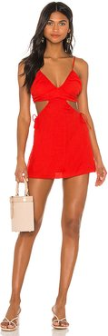 Clare Cut Out Dress in Red. - size M (also in XS)