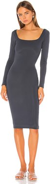 Shelia Midi Dress in Charcoal. - size XS (also in S)