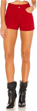Carlee High Waisted Short in Red. - size S (also in M,XL,XS,XXS)