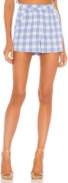 Fabia High Waisted Short in Blue. - size XXS (also in L,M,S,XL,XS)