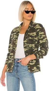 Adley Button Up Jacket in Green. - size XS (also in S,XXS)