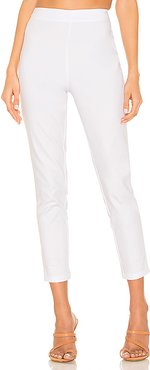 Maisie Zip Back Skinny Pants in White. - size XS (also in L,M,S)