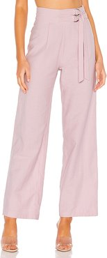 Alba Belted Pant in Lavender. - size XXS (also in XS)