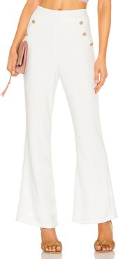 Harper Button Front Pants in White. - size XL (also in L)