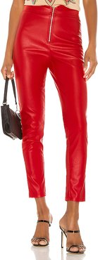 Shonda Faux Leather Pants in Red. - size XS (also in XXS)