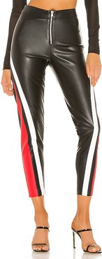 Janica Faux Leather Pant in Black. - size S (also in XXS,XS,M)