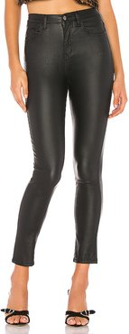 Deandra Coated Faux Leather Pant in Black. - size 28 (also in 23,27)