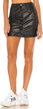 Dolores Faux Leather Skirt in Black. - size M (also in XXS,XS,S,L,XL)
