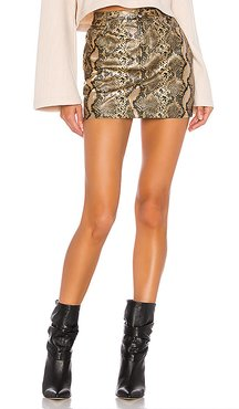 Khloe Mini Skirt in Metallic Gold. - size L (also in S)