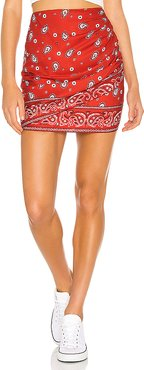 Darby Mini Skirt in Red. - size XXS (also in XS)