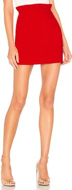 Norma Ruffle Mini Skirt in Red. - size S (also in M,XS)