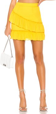 Donnie Frill Mini Skirt in Yellow. - size XXS (also in XS)