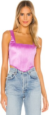Catey Corset Top in Purple. - size XXS (also in S,XS)