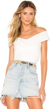 Liana Cross Front Top in Ivory. - size XXS (also in S,XL)