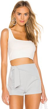 Gwyneth Scoop Neck Top in White. - size XL (also in L,M)