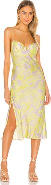 Wildflower Midi Dress in Yellow. - size 8 (also in 2)