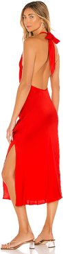 Waterfall Midi Dress in Red. - size 6 (also in 4)