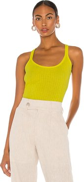 Edie Tank in Yellow. - size L (also in M,S,XS)