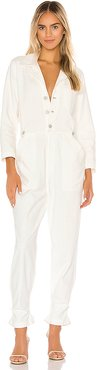 Giselle Boilersuit in White. - size XS (also in M,L)