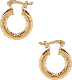 Small Ravello Hoops in Metallic Gold.