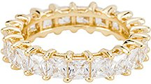 The Princess Cut Eternity Band in Metallic Gold. - size 7 (also in 5,6,8)
