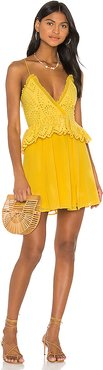 Jordina Mini Dress in Mustard. - size XXS (also in L,M,S,XL,XS)
