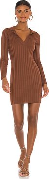 Valen Mini Dress in Brown. - size M (also in L,S)