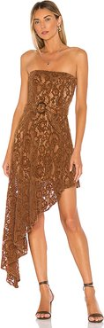 Harling Dress in Brown. - size L (also in XXS,XS,S,M)