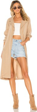Rina Trench Coat in Beige. - size S (also in L)