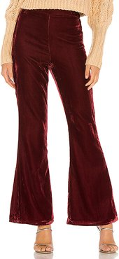 Brita Pant in Wine. - size S (also in M,XS,XXS)