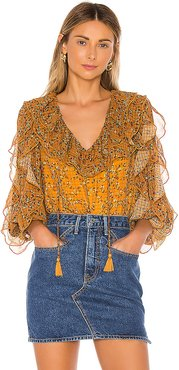 Claire Blouse in Mustard. - size S (also in XS)