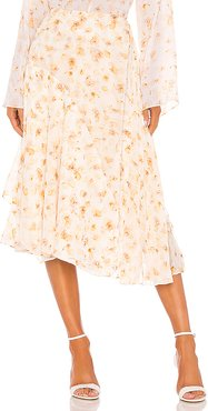 Pressed Petal Panel Skirt in Yellow. - size 4 (also in 0,2,6,8)