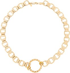 Uptown Necklace in Metallic Gold.