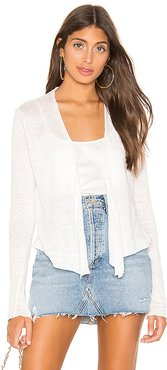 Cropped Swing Cardigan in White. - size M (also in L,S,XS)