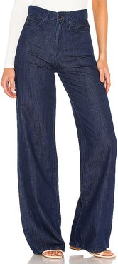 High Rise Wide Leg in Denim-Dark. - size 24 (also in 25,26)