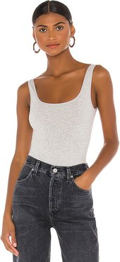 Cotton Shaping Bodysuit in Grey. - size L/XL (also in M/L,S/M)