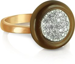 Designer Rings, White Cubic Zirconia Silver Vermeil Ring