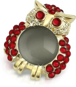 Designer Brooches & Pins, Red Owl Pin
