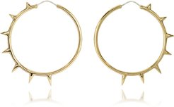Designer Earrings, Bronze Hoop Earrings w/Spikes