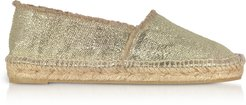 Designer Shoes, Kito Golden Canvas Espadrilles