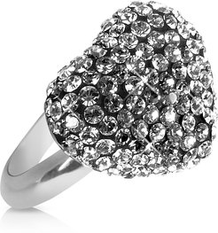 Gisèle St. Moritz Designer Rings, Fantasmania - Crystal Black Heart Ring