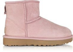 Designer Shoes, Pink Crystal Classic Mini II Boots