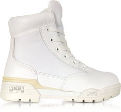 Designer Shoes, Hi-Tec Magnum 6 Classic Lux White Mesh and Leather Women's Boots