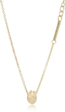Designer Necklaces, Small Gold Anatomic Heart Necklace